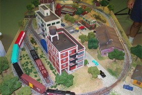 Gateway Central VIII 4x6 Small HO Scale Model Railroad