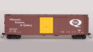 Missouri, Kansas & Quincy Custom HO Scale Car