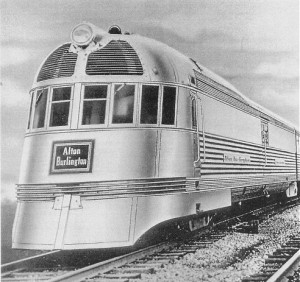 Mark Twain Zephyr with Alton Burlington Logo