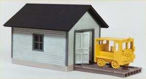 "Walthers Cornerstone Built-ups ""Speeder Shed & Speeder"" 933-2811"