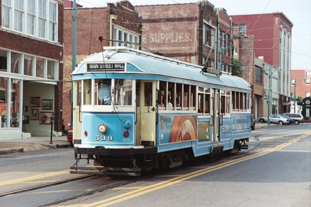 Memphis Streetcar Near Central Station