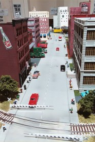 City street scene on the Missouri History Museum layout.