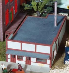 """American Model Builders LaserKit """"West End Exchange"""" 152-146"""