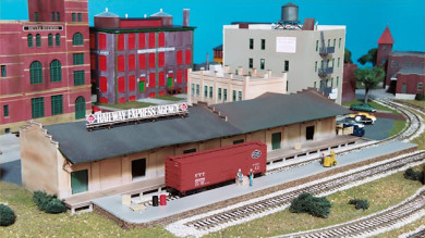 HO Scale Model Buildings on the Gateway Central IX Railroad Layout