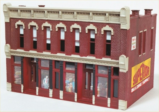 Completed DPM Front Street HO Scale Building.