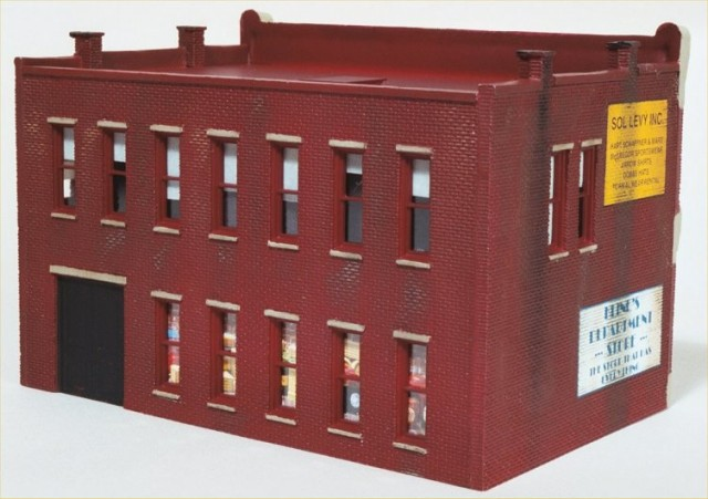 Adding easy window shades and simple interior to HO scale building.