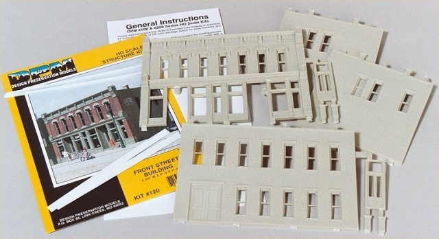 Parts provided with the DPM Front Street building kit.