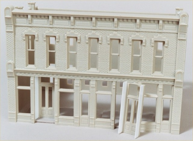 Adding the front doorways to the HO scale DPM Front Street kit.