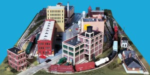 Gateway Central X Small City Model Railroad