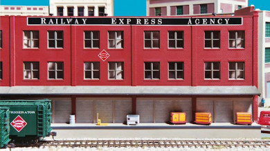 Model Buildings on the Gateway Central X HO Scale Project Train Layout