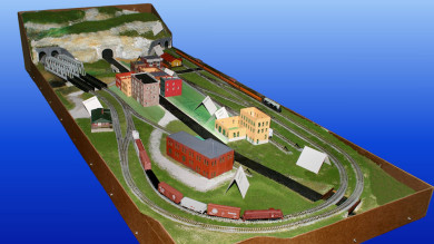 Gateway Central XI N Scale Model Railroad Layout