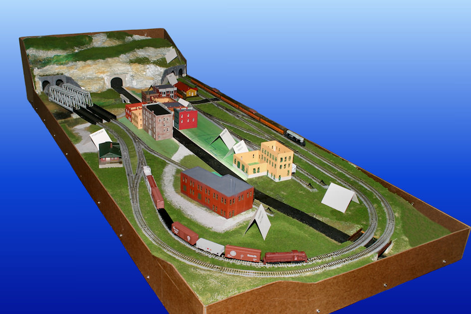 Gateway central xi n scale model railroad layout gateway nmra - N scale train layouts small spaces paint ...