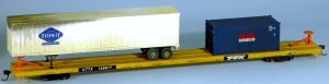 KTTX #158917 Modern Flat Car with Container and Trailer Loads