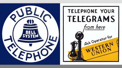 Telephone Vintage Metal Signs