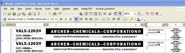 Word Processor Custom Decals