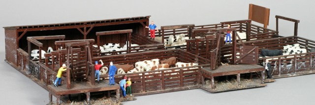 National City stockyard model by John Carty. Walthers HO kit 933-3047.