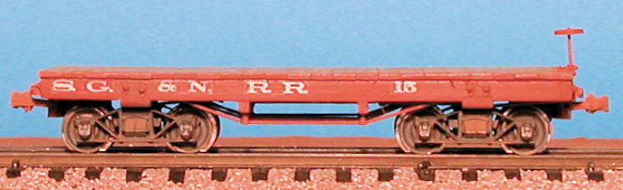 Civil War Era Carter Brothers Flat Car.