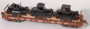 St. Louis & Northern #1817 Flat Car with Auto Load