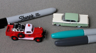 Finishing Model Automobiles With Sharpies