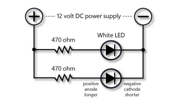 Wiring a single white LED