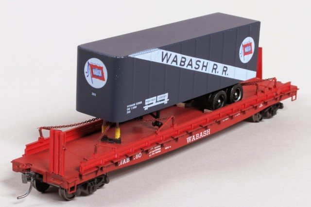 Completed Wabash flat car and trailer