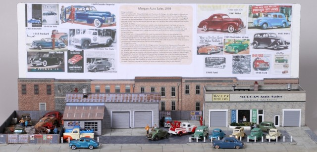 1949 Morgan Auto Sales Diorama