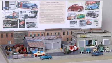 1949 Morgan Auto Sales HO Scale Diorama