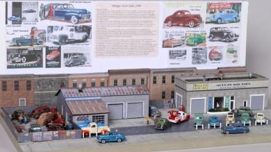 1949 Morgan Auto Sales HO Scale Diorama