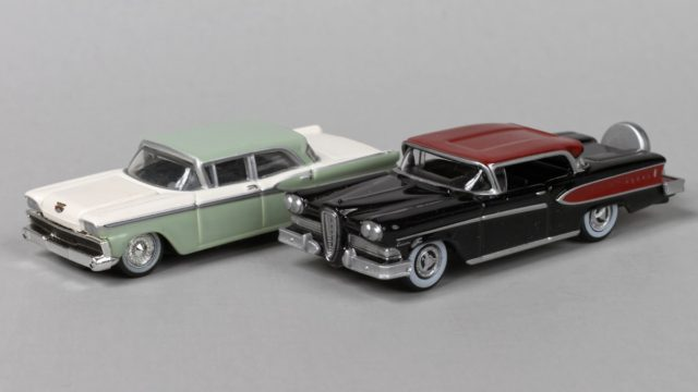 Oxford 1958 Edsel Citation and Mini Metals 1959 Ford Fairlane