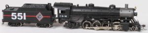 C&IM #551 2-8-2 Steam Locomotive
