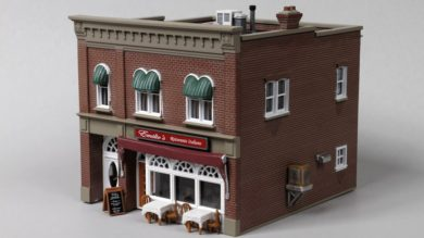 Woodland Scenics Lighted HO Scale Emilio's Italian Restaurant