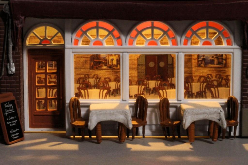 Woodland Scenics Lighted Ho Scale Emilio S Italian Restaurant Gateway Nmra