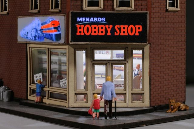 Menard's Hobby Shop Lighted Interior