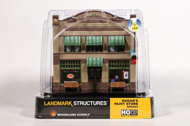 Woodland Scenics Landmark Structures® HO scale Dugan's Paint Store.
