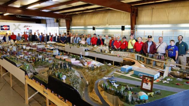Joint NMRA-NRHA Arborway, T.T. & Northwestern Railroad Trip Group Photo