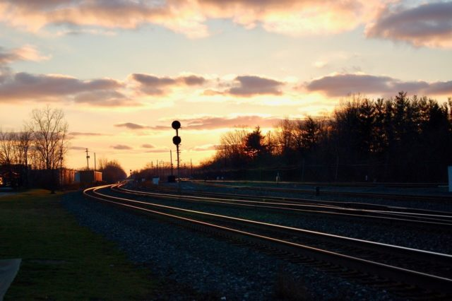 Sunset at Berea, Ohio.