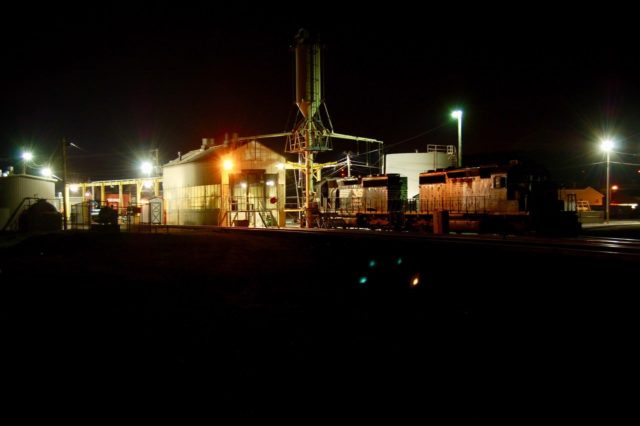 Every photographer has a night time exposure … this is mine. Taken at the Cresson, Pennsylvania engine facility.