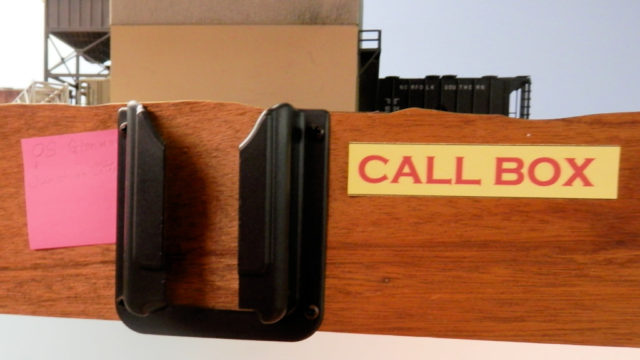 Call box for radio.