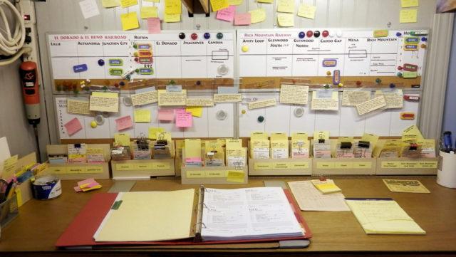 Dispatcher's desk.