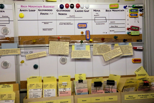 Magnetic dispatcher sheet.