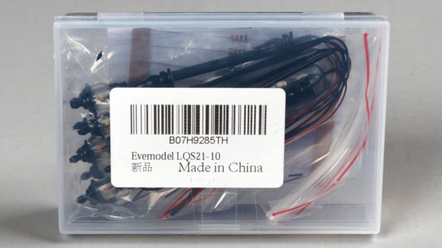 The Evemodel street lights arrived in a plastic bag inside a small plastic box.