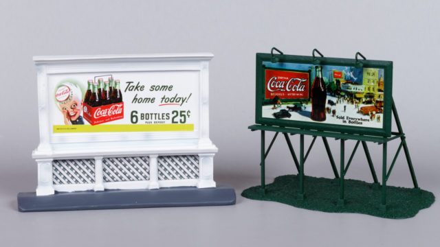 Mini Metals and Athearn Coca-Cola HO Scale Billboards