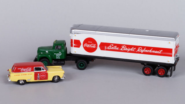 Mini Metals delivery wagon and Aero van trailer