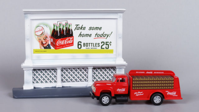 Mini Metals Coca-Cola Delivery Truck and Billboard Set