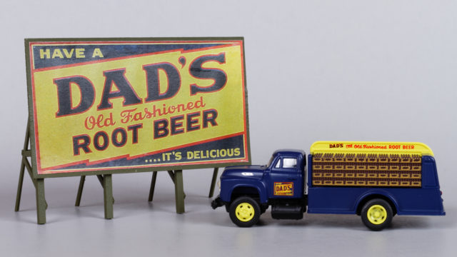 Dad's Root Beer Truck and Billboard
