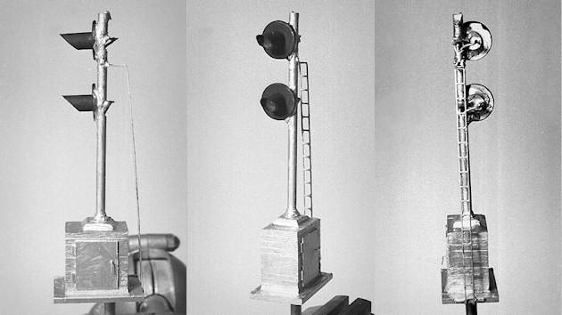 Scratchbuilt Searchlight Signal