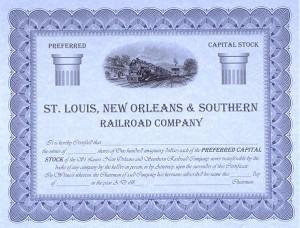 Saint Louis Southern Stock Certificate