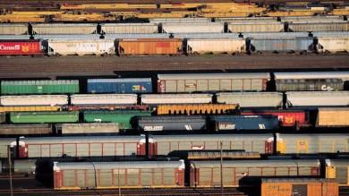 Modern Train Yard