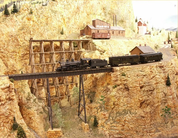 Impressive steel trestle on the new C&RM model railroad.