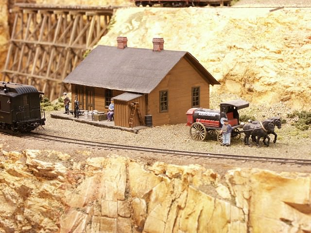 Depot downhill from a large ore mine on the new C&RM RR.
